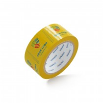 "Custom Packing Tape By TOTALPACK® - Yellow  2"" x 110 yds. 1.8 Mil, 36 Rolls Per Case"