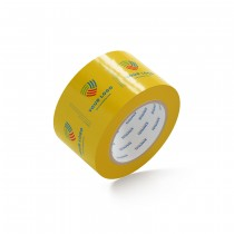 """Custom Packing Tape By TOTALPACK® - Yellow  3"""" x 110 yds. 1.8 Mil, 36 Rolls Per Case"""