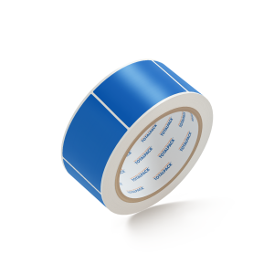 TOTALPACK® Multi-Color Rectangular Labels - Permanent Adhesive, 500 - 1000 Labels per Roll