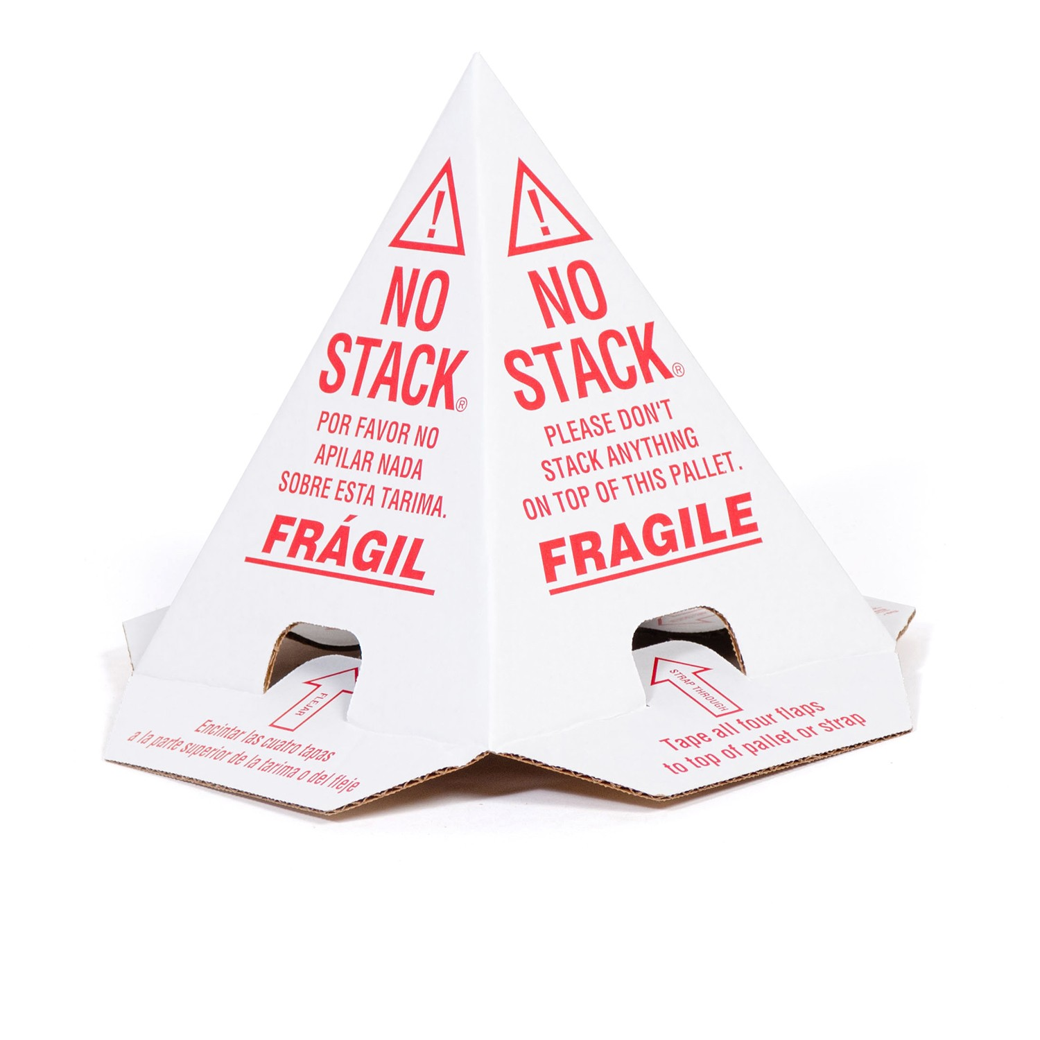 """TOTALPACK® 8 x 8 x 10"""" White Pallet Cones """"English Only"""", 50 Units"""