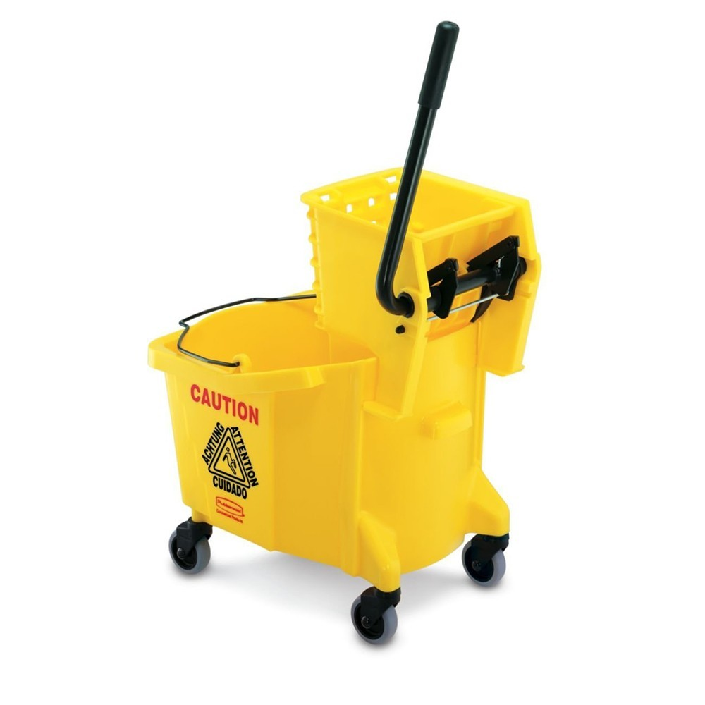 Rubbermaid® WaveBrake® Bucket/Wringer - Side Press, 35 Quart, Yellow