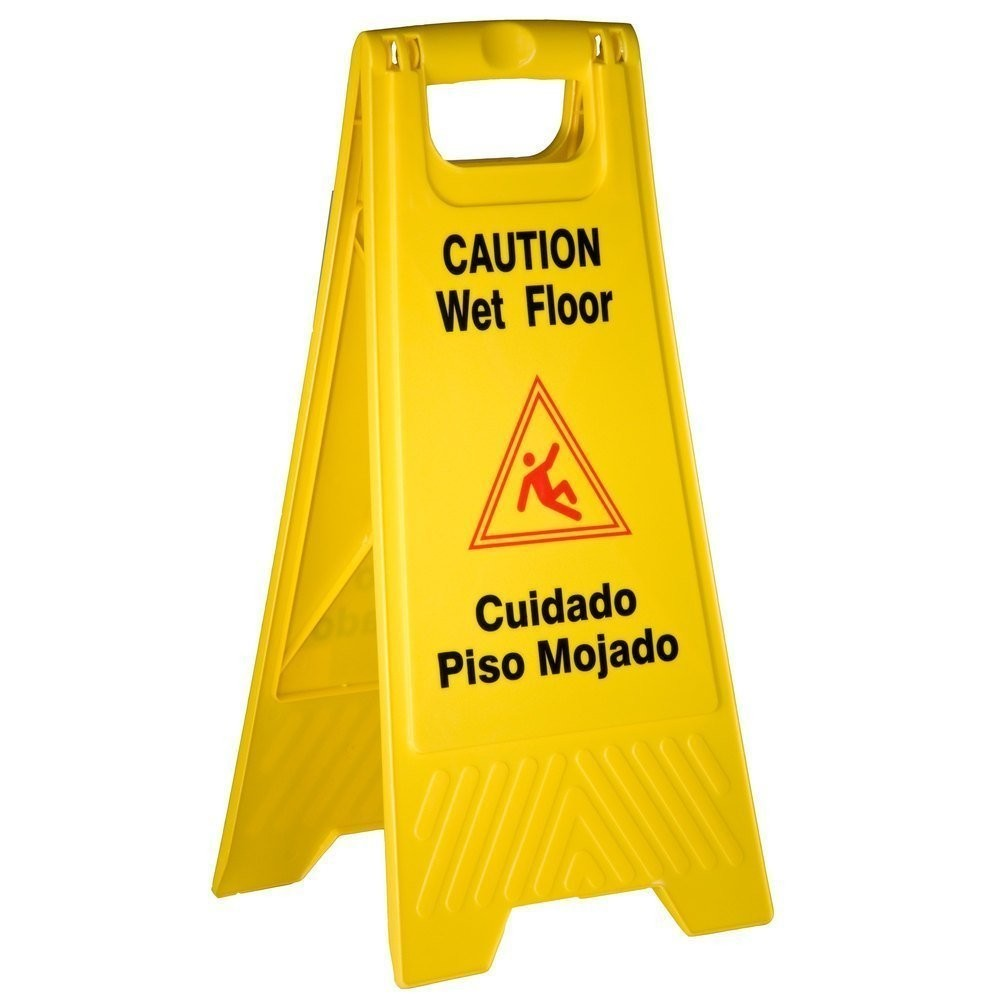 Rubbermaid® Wet Floor Sign - Multi-Lingual