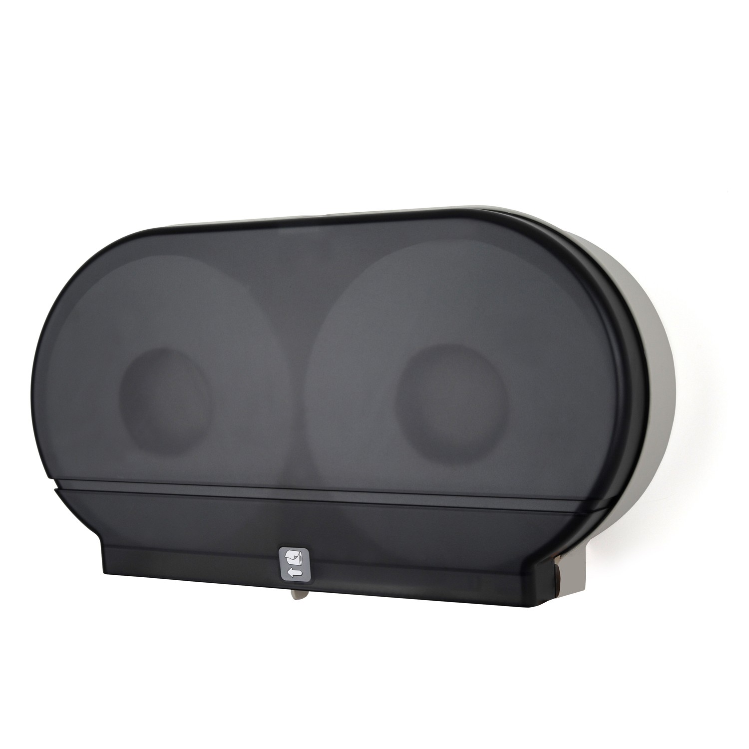 TOTALPACK® Twin Jumbo Tissue Dispenser Smoke Black