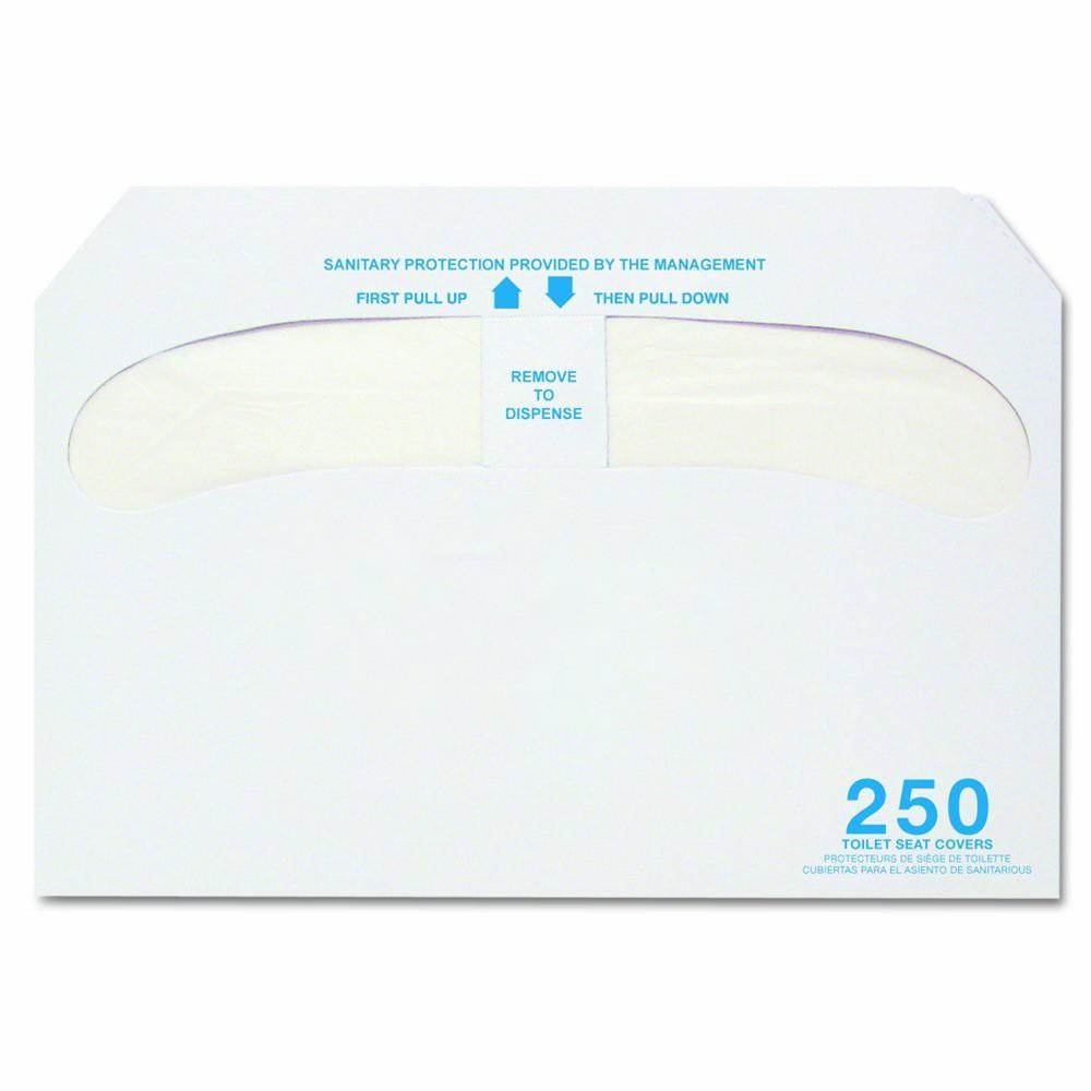 "TOTALPACK® 15 x 10 1/8"" Half-Fold Toilet Seat Cover, 20 Packs per Case"