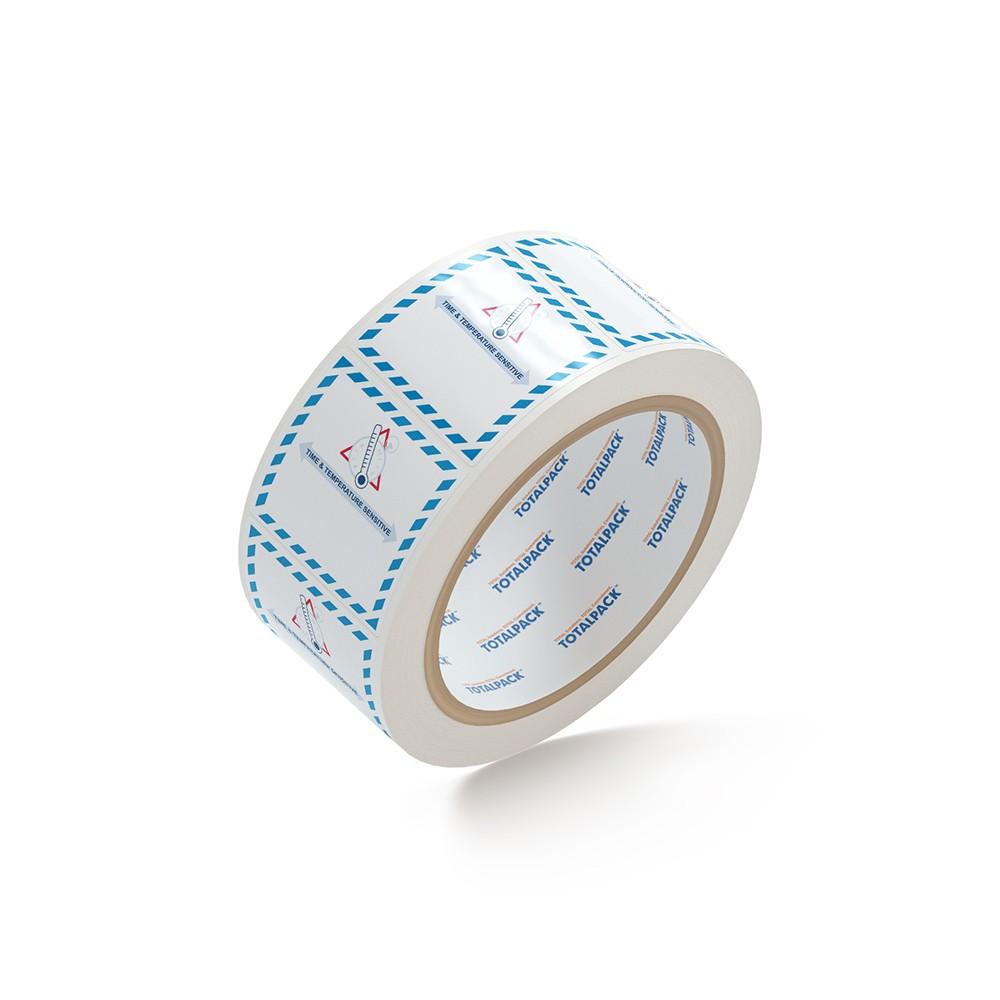 """TOTALPACK® 4 x 4"""" - """"Time & Temperature Sensitive"""" 500 Labels per Roll"""