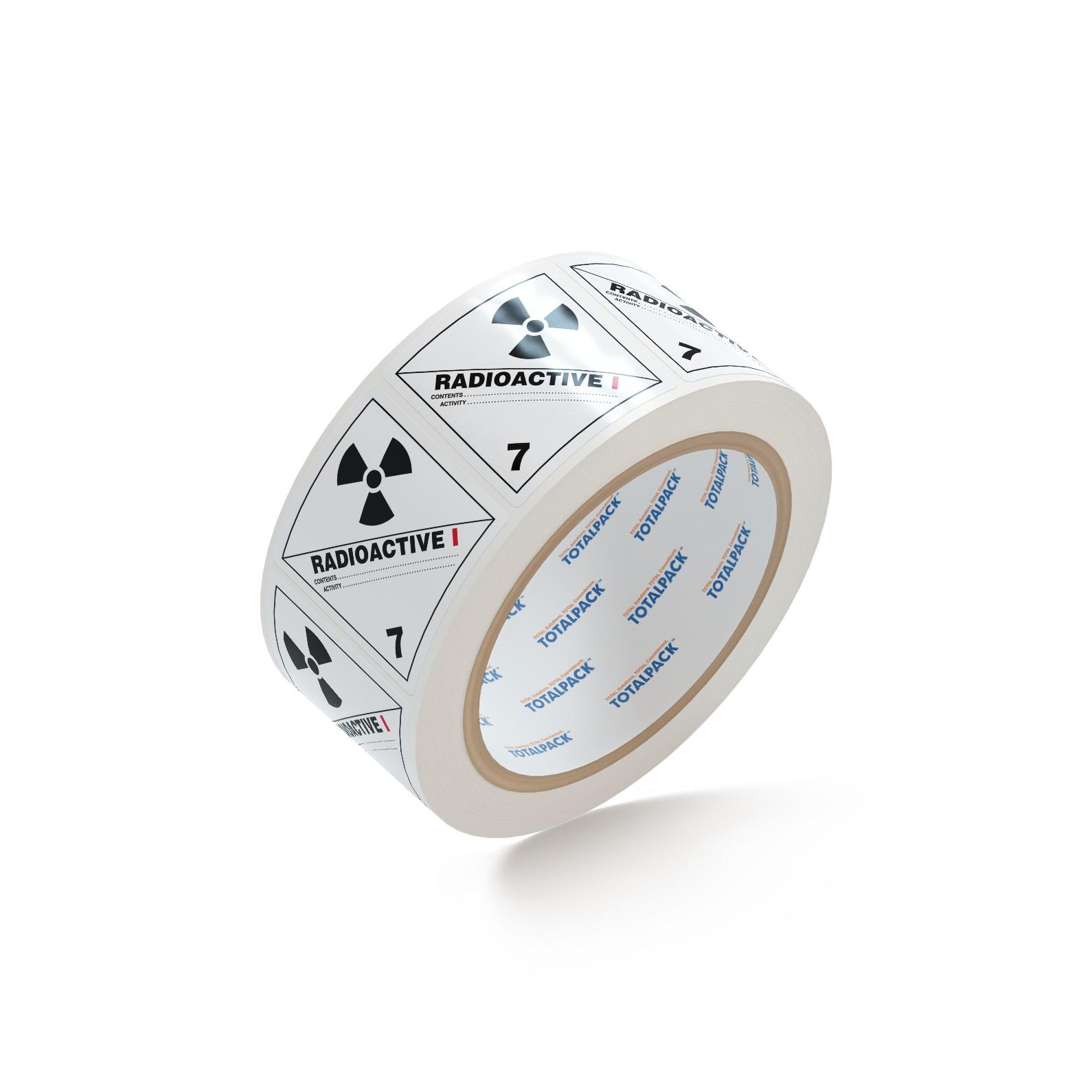 "TOTALPACK® 4 x 4"" - ""Radioactive"" #1 500 Labels Per Roll"