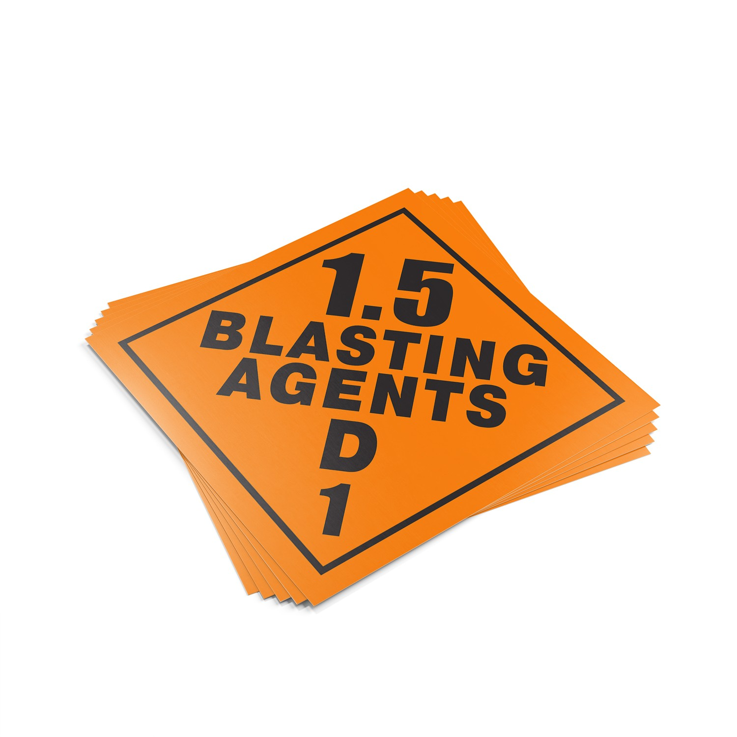 "TOTALPACK® 10 3/4 x 10 3/4"" - Placard ""1.5 Blasting Agents D 1"" 25 Units"