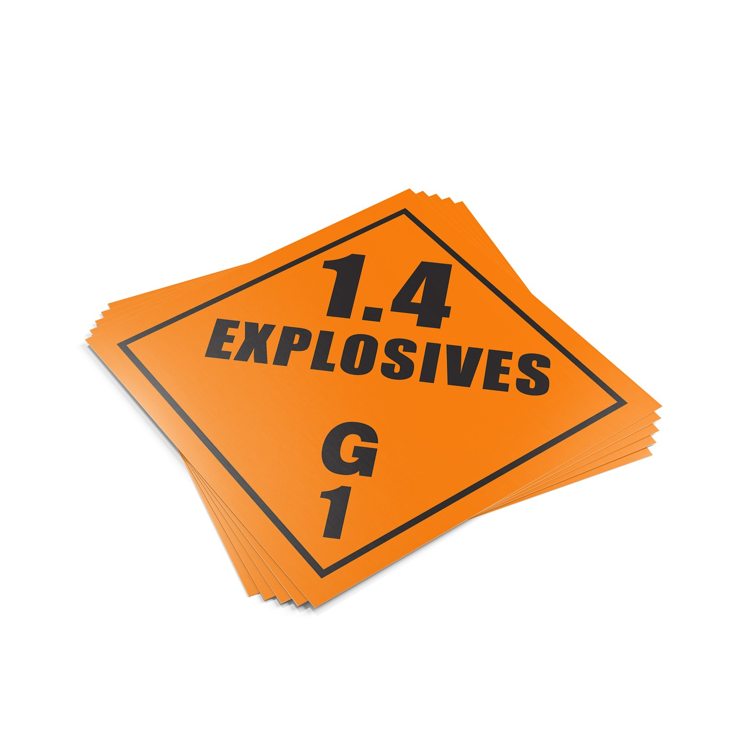"TOTALPACK® 10 3/4 x 10 3/4"" - Placard ""Explosives 1.4 G"" 25 Units"