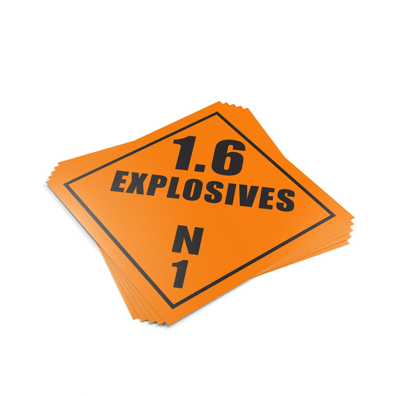 "TOTALPACK® 10 3/4 x 10 3/4"" - Placard ""Explosives 1.6 N 1"" 25 Units"