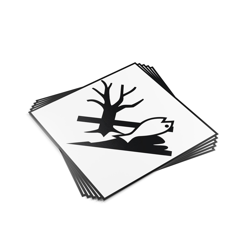 "TOTALPACK® 10 3/4 x 10 3/4"" - Placard ""Environmentally Hazardous Substance"" 25 Units"