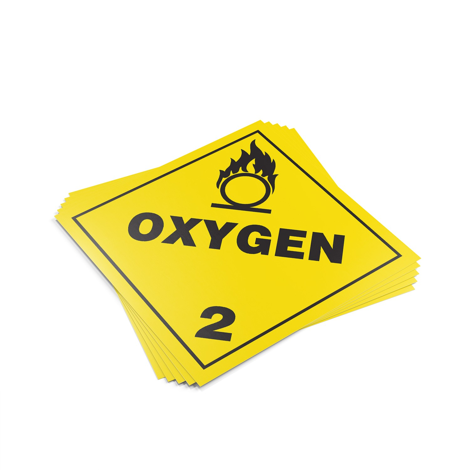 "TOTALPACK® 10 3/4 x 10 3/4"" - Placard ""Oxygen #2"" 25 Units"