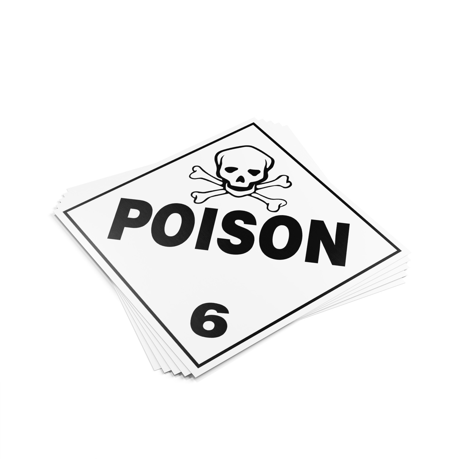 "TOTALPACK® Label for Truck ""Poison #6"" 25 Units"