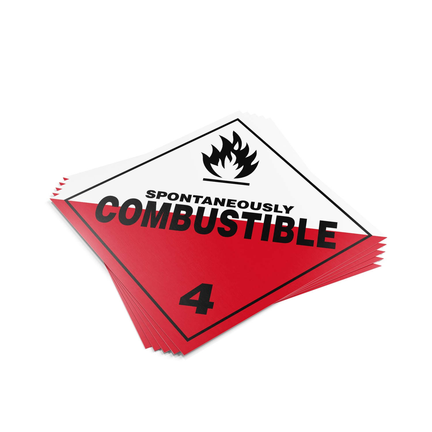 "TOTALPACK® 10 3/4 x 10 3/4"" - Placard ""Spontaneous Combustible"" 25 Units"