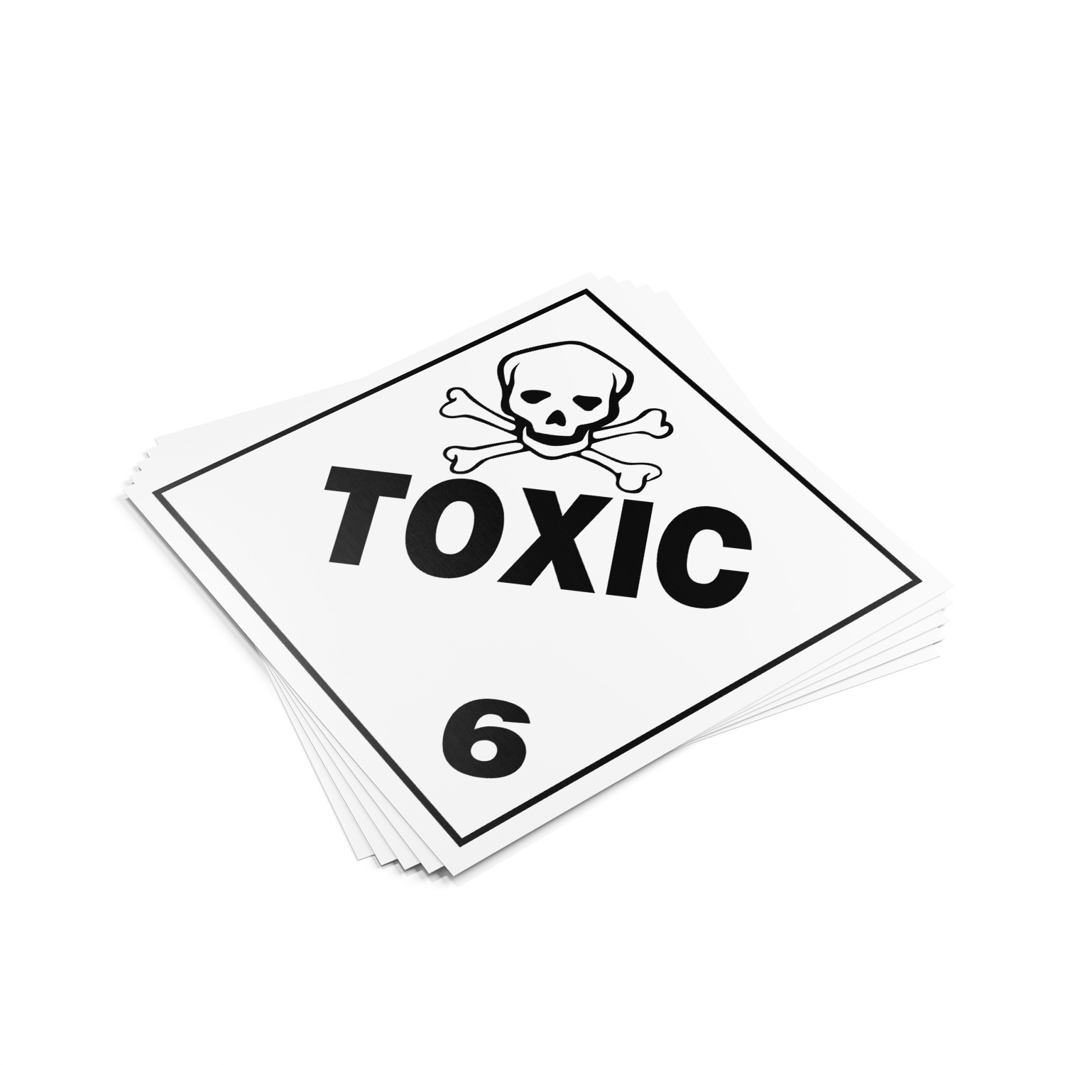 "TOTALPACK® 10 3/4 x 10 3/4"" - Placard ""Toxic #6"" 25 Units"