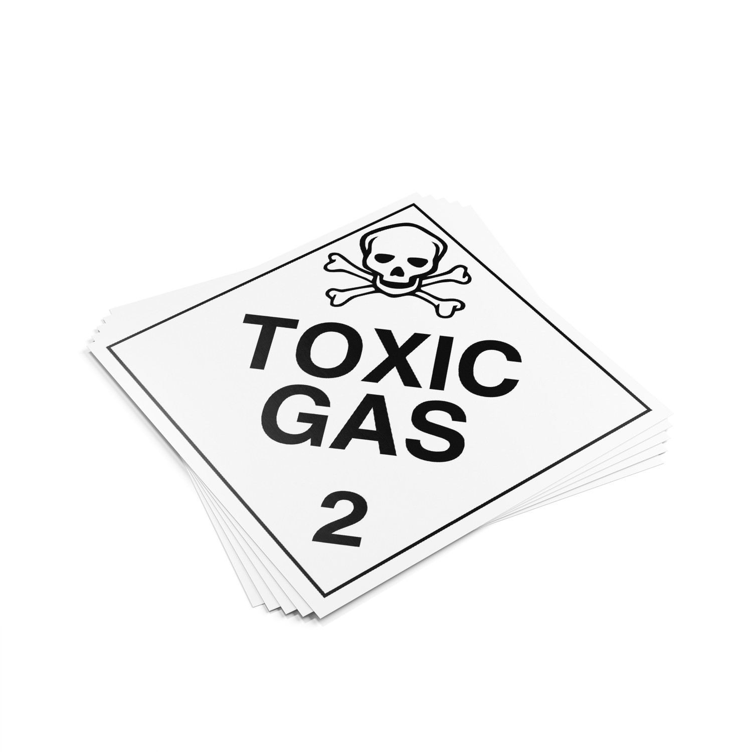 "TOTALPACK® 10 3/4 x 10 3/4"" - Placard ""Toxic Gas #2"" 25 Units"