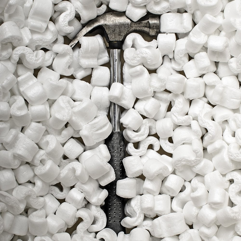 TOTALPACK® 20 Cubic Feet White Loose Fill Packing Peanuts