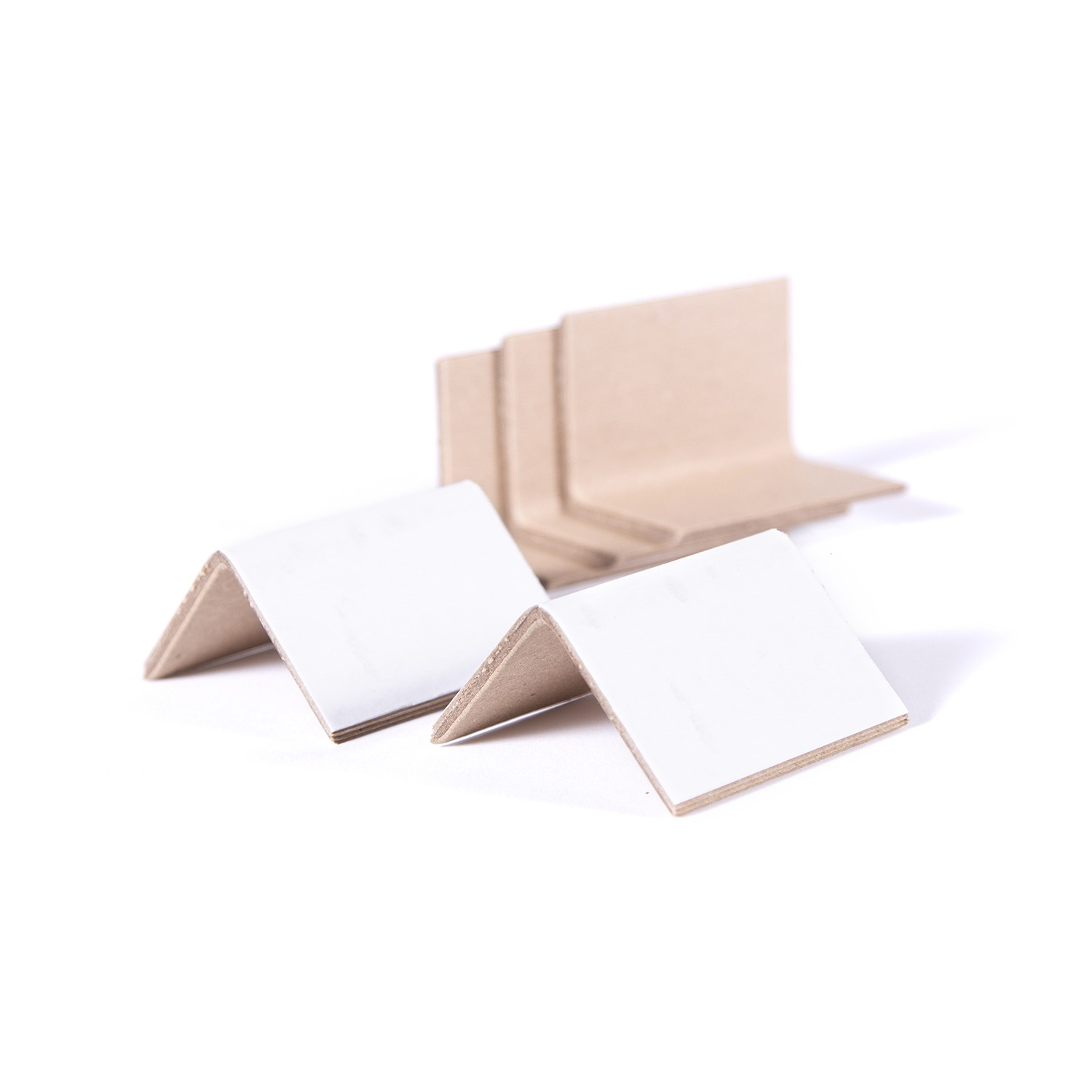 "2 x 2 x 3"" - White Corrugated Strap Guards ""Carton Corner Protectors"" 1000 Units"