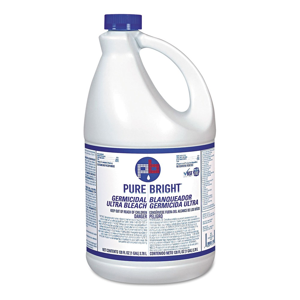 Pure Bright Liquid Bleach 1 Gallon - 6 Units