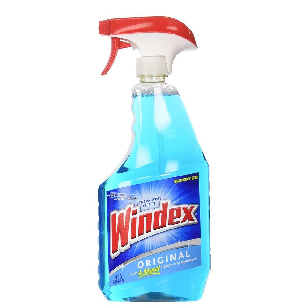 Windex Original Glass Cleaner Trigger 32 Oz - 12 Units